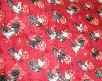 """Two Square """"La Provence """" Rooster Hemed Panels"""