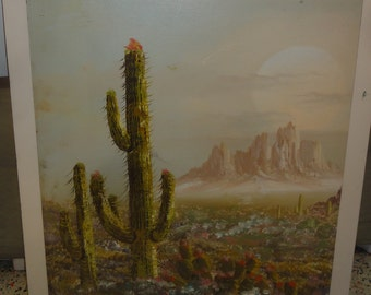 Desert Oil Painting on Canvas/ Not Framed