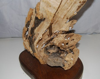Driftwood Table Lamp Authentic And Well Constructed, Solid Large Vintage  Mid Century Modern Driftwood Table