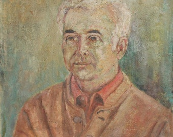1977 Impressionist oil painting portrait signed