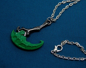 Thresh necklace or keychain - hook weapon - the Chain Warden - league of legends - jewelry gift pendant key chain