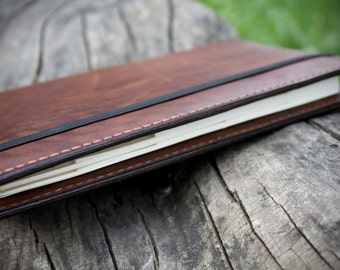 Leather Moleskine Cover - Handmade Moleskine Leather Cover