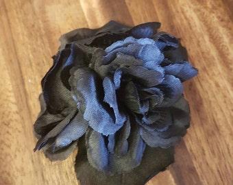 Triple Black Rose Hair Flower