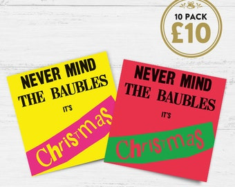 Sex Pistols pastiche - 'Never Mind The Baubles It's Christmas' Cards