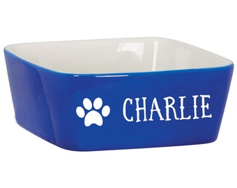 Custom Dog Bowl with Paw Print