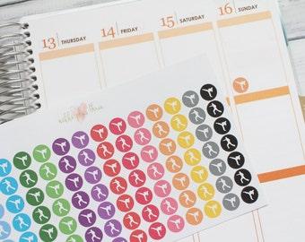 Karate Icon Planner Stickers - Pastel or Bright - Matte