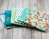 LAVISH Teal FLORAL Medley BUNDLE - Collection of Floral & Teal - Art Gallery Fabrics