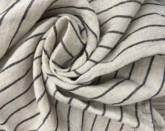 Pure Linen hand towel/ tea towel. Softened, rustic linen. Heavy weight linen