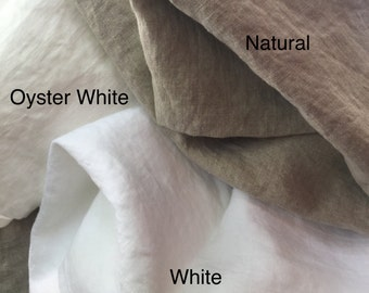 Linen sample swatches