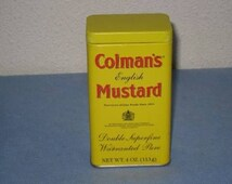 Up for sell is a vintage colman's double superfine warranted pure 4 oz. english mustard tin.  .