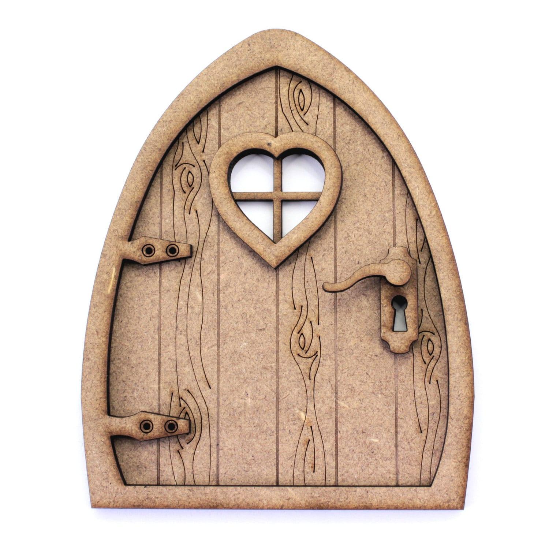 3d fairy door kit natural mdf engraved woodgrain effect for Fairy front door