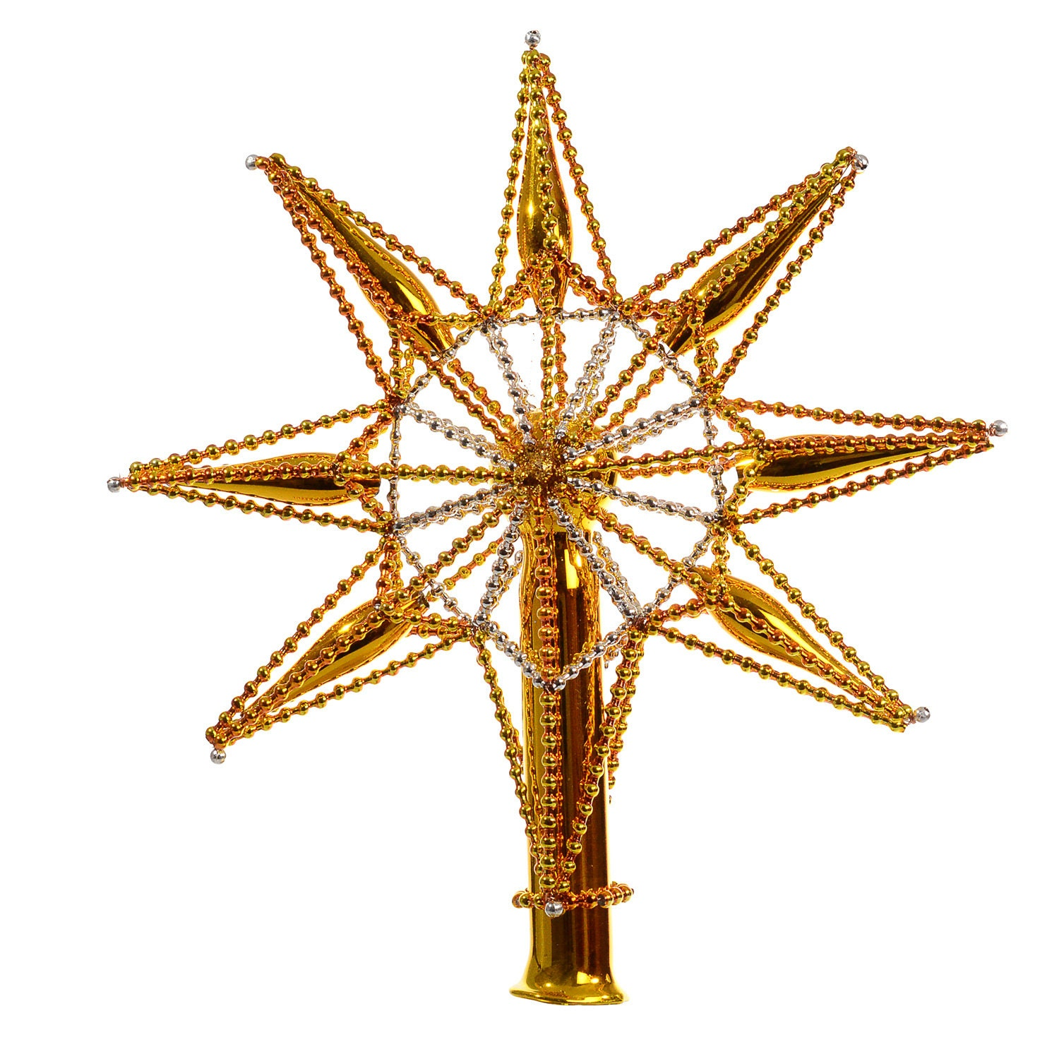 Blown Glass Christmas Tree Topper