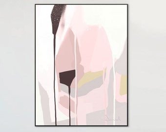 Abstract Art Printable, Wall Art Print, Blush Grey Art, Minimalist Print, Home Decor, Scandinavian Art, Digital Downloads, Abstract Print