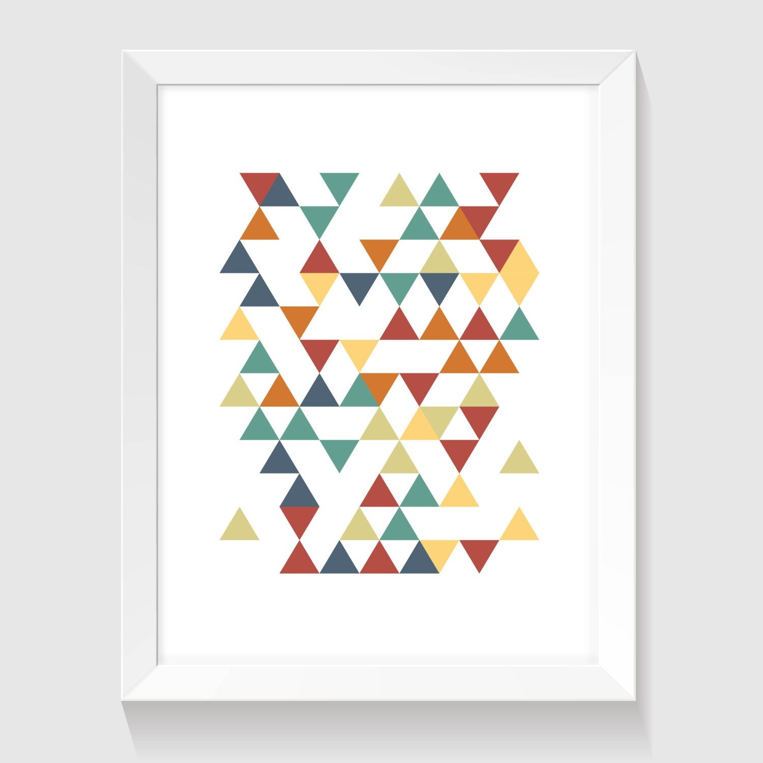 Triangle art printable art minimal wall decor colorful art for Minimal art wall
