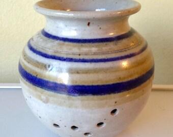 Vintage Steve Skarda Studio Pottery Potpourri Vase Utica Montana 1985