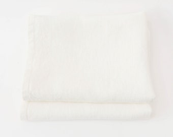 White Linen Tea Towel Set of 2 - 66cmx42cm