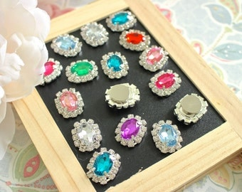 Mix Color Rhinestone Fridge Magnets, Rhinestone Magnet Set, Sparkly Magnets, Decorative Magnets, Kitchen Magnet, Wedding Crystal Magnets