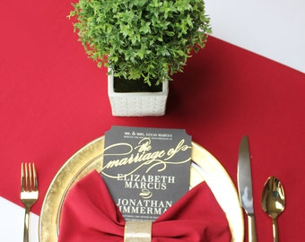 14 x 108 inches Red Table Runner | Red Table Runners for Weddings, Banquet Events, Hotels and Restaurants