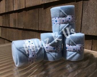 MINI SIZED Baby Blue Bubble Polos (set of 4)