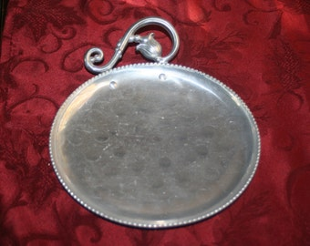 Faberware Hammered Aluminum Tray, Ornate Tray