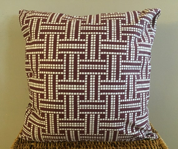 Organic Cotton Throw Pillow Inserts : Brown Organic Throw Pillow Insert Removable Cover Pillow