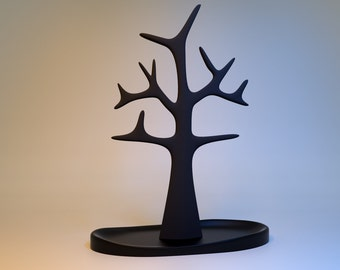 Tall Jewelry and Necklace Tree organizer and display in Solid Surface