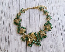 New Hollywood statement piece in green, gold, copper