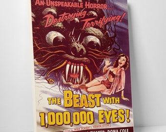 The Beast with 1,000,000 Eyes! Gallery Wrapped Canvas Print