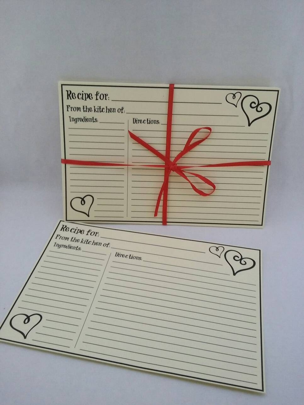 Bridal Shower Gift Greetings : Recipe Cards Bridal Shower Gifts Gifts for her Mom Gifts