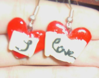 "Earrings ""i love"""