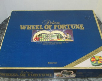 Deluxe Wheel of Fortune 1986 Pressman Toy Co Authentic Replica Wheel COMPLETE