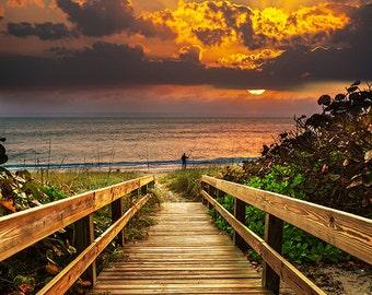 Boardwalk on beach - SKU 0236
