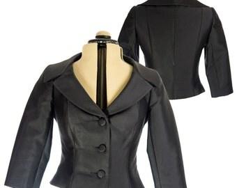 Carmen Marc Valvo Black Jacket - Size 2