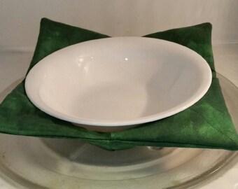Microwave Bowl Holder -  Green Varigated