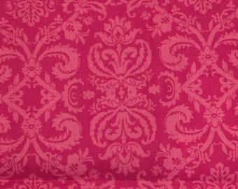 Pink Damask Cotton Fabric Girl Bedding Crib Sheet Blanket Dust Ruffle