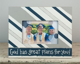 God Has Great Plans For You Hand Painted Picture Frame