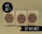 PICK ANY 3 // Soy Wax Melts // Soy Wax Tarts // Highly Scented Wax Melts Sampler Pack // Wax Melts Gift Set
