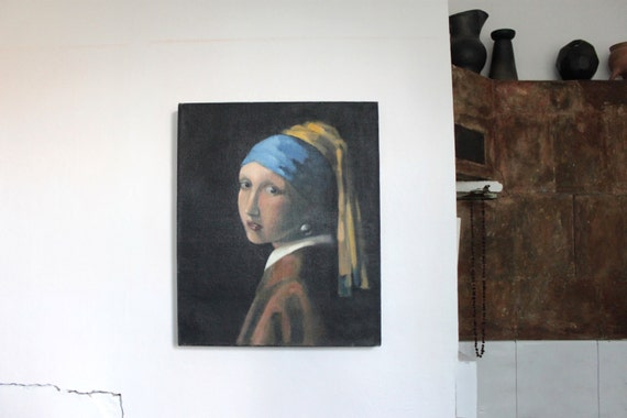 Girl with a Pearl Earring - Johannes Vermeer high quality hand-painted oil painting reproduction