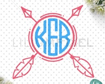 Monogram Arrow SVG Cutting Files / Banner SVG Files / Tribal Arrow SVG for Cricut Silhouette / Svg Cut Files / Commercial Use ok