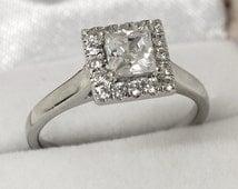 3/4ct Diamond and 9ct White Gold Ring
