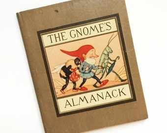 The Gnome's Almanack Illustrated by Ida Bohatta Morpurgo, 1942 ~ Collectible Small Vintage Book Sweet Gnome Illustrations for Each Month