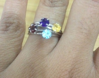 AAA natural topaz ring in 925 sterling silver