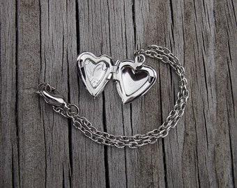 Silver Locket 1/3 BJD Necklace