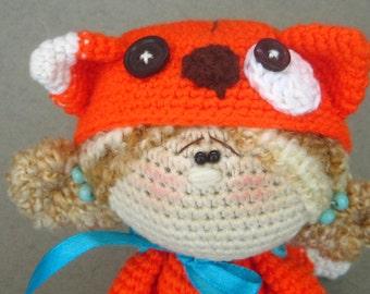 Crochet doll Little Kitten, toy amigurumi, Art Doll, collectible doll