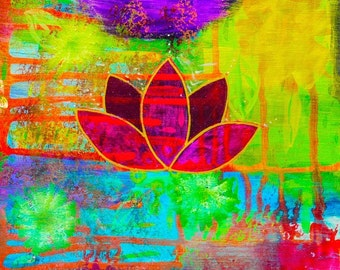 Healing Purple Lotus Print