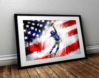 American football painting
