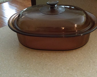 Visions By Corning Covered 4 Quart Roaster