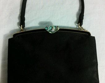 Black Silk Rosenfeld Handbag - Collectible Brand!