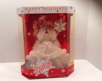 Happy Holidays Barbie  1989 Never Out of Box~ Virginia Vintage