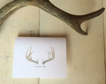 Antler Thank You Cards Box Set